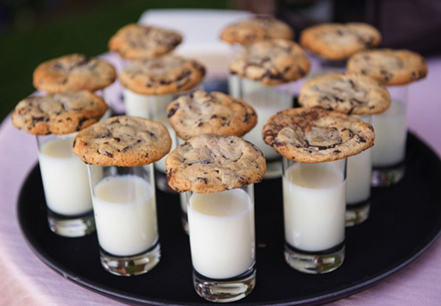 milk and cookies at the bear trail lodge
