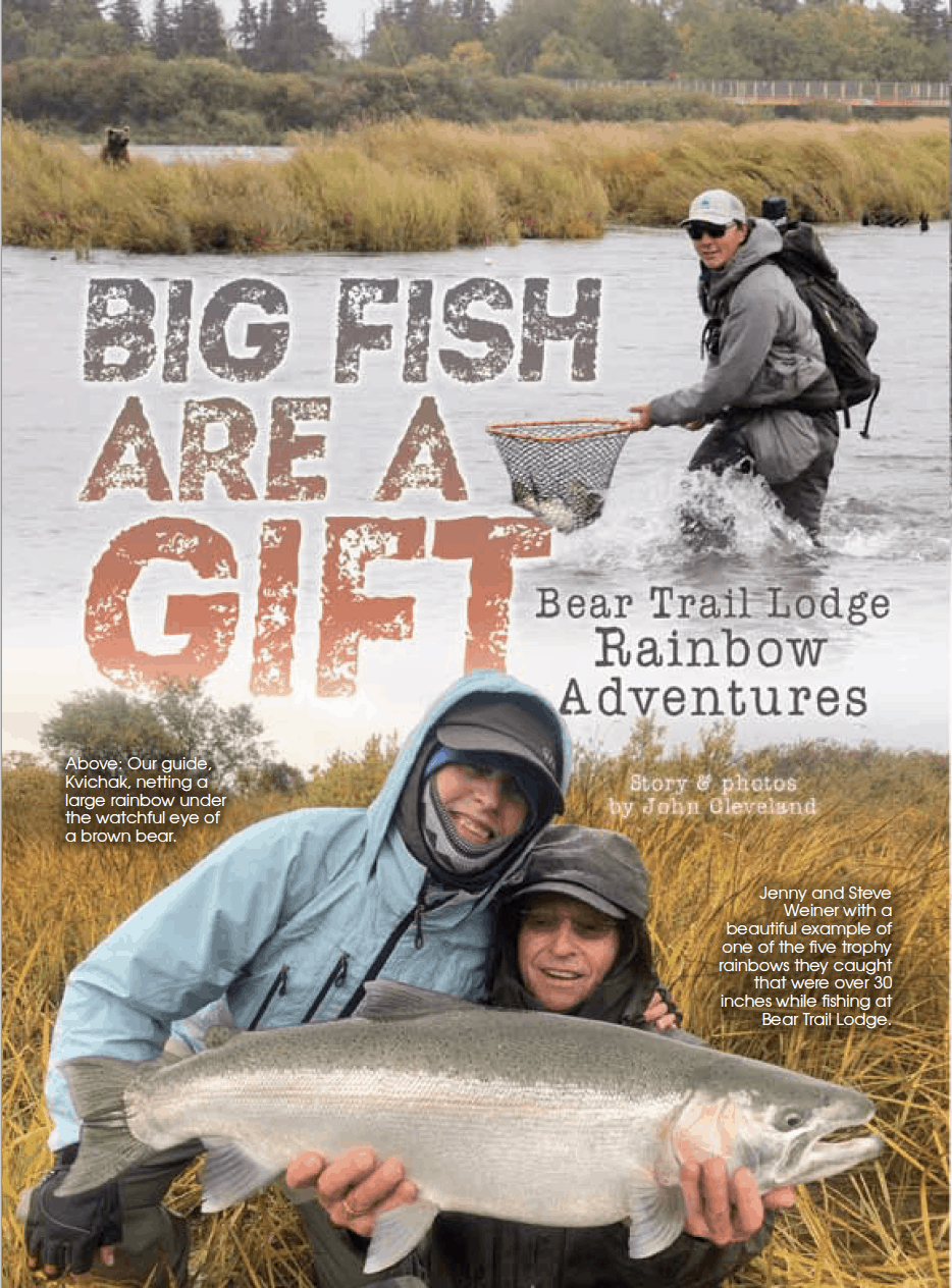 bear trail lodge story in Fish Alaska Magazine